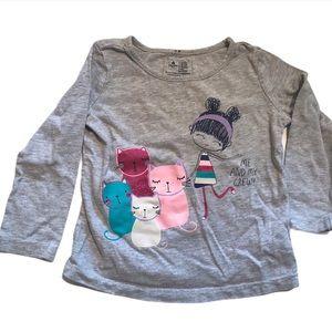 🧚♀️4/$25 Baby Gap Kitty Crew T-Shirt 3T
